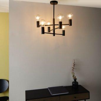 Lustre Brilliant Orazio Noir, 6 lumières