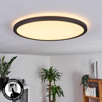 Plafonnier Boyero LED Noir, 1 lumière