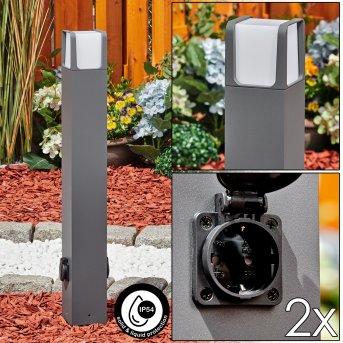 Borne lumineuse Lysabbel LED Anthracite, 1 lumière