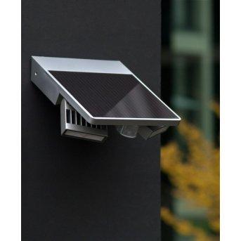 Applique extérieure LUTEC TILLY LED Argenté, 1 lumière, Détecteur de mouvement