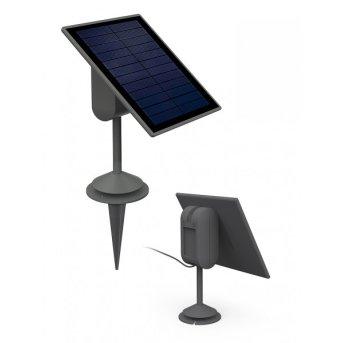 Panneau solaire Lutec SPARTA LED Gris, Détecteur de mouvement