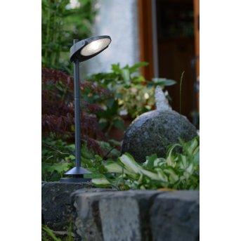 Lampadaire solaire Lutec STACK LED Gris, 3 lumières