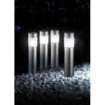 Lot de 4 lampes solaires Globo CHUNGI LED Acier inoxydable, 1 lumière