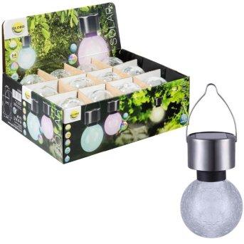 lampe solaire Globo LED Acier inoxydable, 1 lumière, Changeur de couleurs