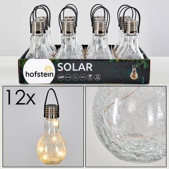 Set de lampes solaires Tian LED Argenté, 1 lumière
