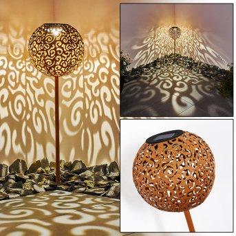 lampe solaire Paradiski LED Rouille, 1 lumière