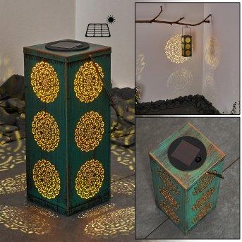 lampe solaire Ajman LED Vert, Cuivre, 1 lumière