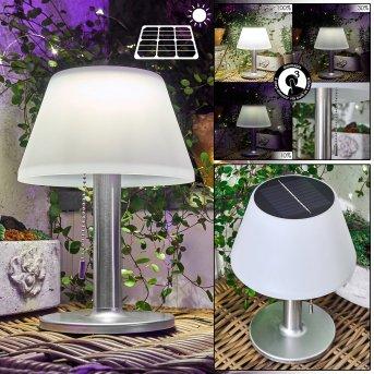 lampe solaire Alcudia LED Blanc, 1 lumière