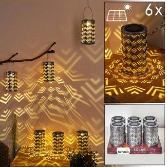 lampe solaire Parikia LED Argenté, Cuivre, 1 lumière