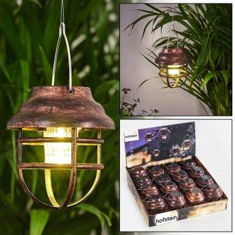 lampe solaire Hangzhou LED Rouille, Transparent, 1 lumière