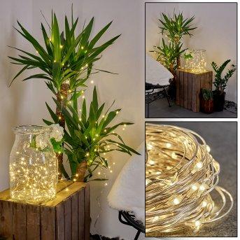 Guirlande solaire Pistoia LED Blanc, 120 lumières