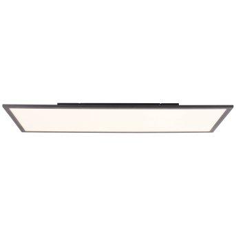Plafonnier Brilliant Jacinda LED Noir, 1 lumière, Télécommandes