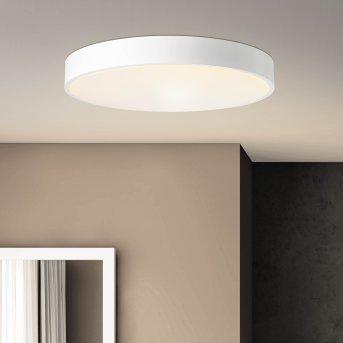 Plafonnier Brillliant Slimline LED Blanc, 1 lumière, Télécommandes