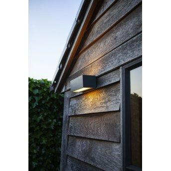 Applique murale d'extérieur Lutec GEMINI LED Anthracite, 2 lumières, Changeur de couleurs