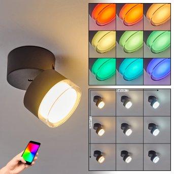 plafonnier extérieur Papagayos LED Anthracite, Blanc, 1 lumière, Changeur de couleurs