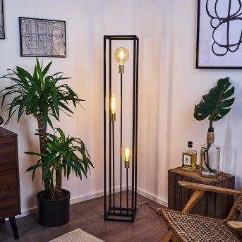 Lampadaire Woden Laiton, Noir, 3 lumières