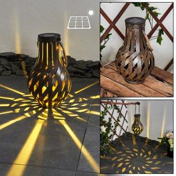 lampe solaire Soulé LED Brun, 1 lumière