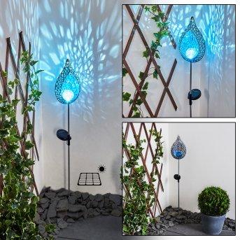 lampe solaire Rovinj LED Bleu, Argenté, 1 lumière