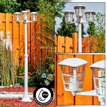 Réverbère Lalwori Blanc, 3 lumières