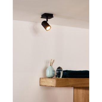 Spot de plafond Lucide LENNERT LED Noir, 1 lumière