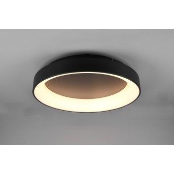 Plafonnier Trio Girona LED Noir, 1 lumière, Télécommandes