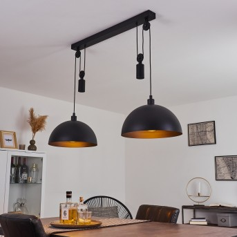 Suspension Manacales Noir, 2 lumières