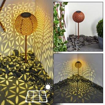 lampe solaire Samoao LED Noir, Rouille, 1 lumière
