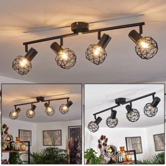 Plafonnier Palmira Noir, 4 lumières