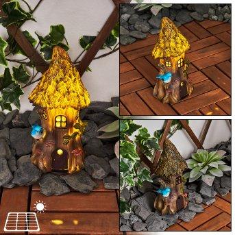 lampe solaire Katiao LED Bleu, Brun, Orange, 1 lumière