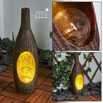 lampe solaire Otterstad LED Brun, Or, 1 lumière