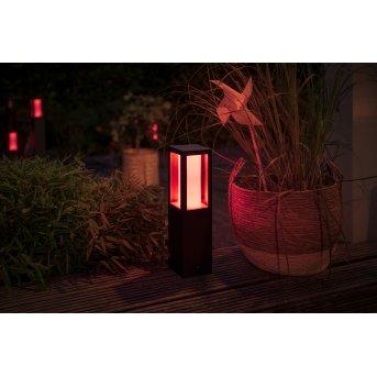 Borne d'éclairage, kit de base Philips Hue Ambiance White & Color Impress LED Noir, 1 lumière, Changeur de couleurs