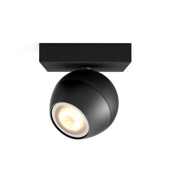 Spot, kit d'extension Philips Hue Ambiance White Buckram Noir, 1 lumière