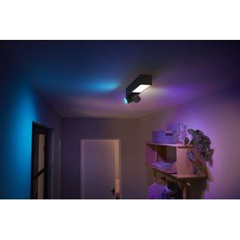 Plafonnier Philips HUE Centris LED Noir, 3 lumières, Changeur de couleurs