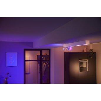 Plafonnier Philips HUE Centris LED Blanc, 1 lumière, Changeur de couleurs
