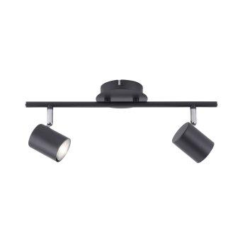 Plafonnier Leuchten Direkt TARIK LED Noir, 2 lumières