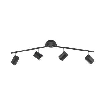 Plafonnier Leuchten Direkt TARIK LED Noir, 4 lumières