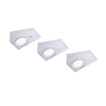 lampes pour bandeaux Leuchten Direkt THEO LED Acier inoxydable, 3 lumières