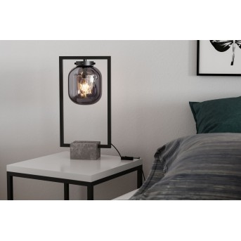Lampe de table By Rydens Dixton Noir, 1 lumière