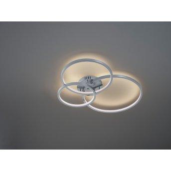Plafonnier Trio Aaron LED Nickel mat, 1 lumière, Télécommandes, Changeur de couleurs