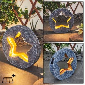 lampe solaire Siviri LED Gris, Bronze, 48 lumières