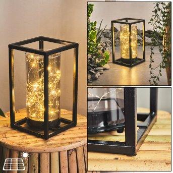 lampe solaire Aracaju LED Noir, 30 lumières