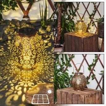 Lampe solaires Moreland LED Noir, Cuivre, 1 lumière