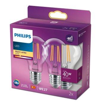 Philips 2x LED E27 4,3 Watt 2700 Kelvin 470 Lumen