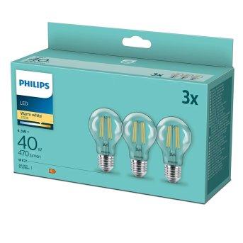Philips 3x Set LED E27 4,3 Watt 2700 Kelvin 470 Lumen