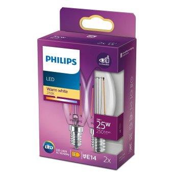 Philips 2x LED E14 2 Watt 2700 Kelvin 250 Lumen