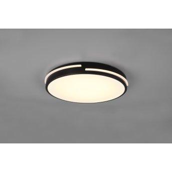 Plafonnier Reality Tacoma LED Noir, 1 lumière, Télécommandes