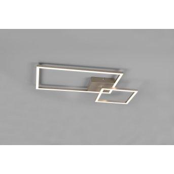 Plafonnier Reality Padella LED Nickel mat, 1 lumière