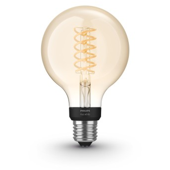 LED White Filament Globe E27 7 Watt 2100 Kelvin 600 Lumen Philips Hue