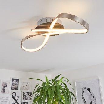 Plafonnier PARSON LED Nickel mat, 1 lumière