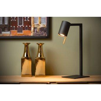 Lampe de table Lucide LESLEY Noir, 1 lumière